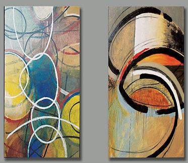 Dafen Oil Painting on canvas abstract-set163