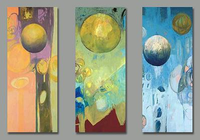 Dafen Oil Painting on canvas abstract -set166