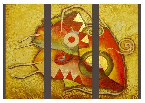 Dafen Oil Painting on canvas abstract -set182