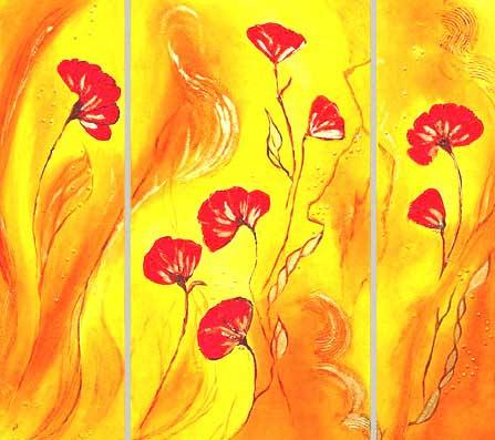 Dafen Oil Painting on canvas flower -set194