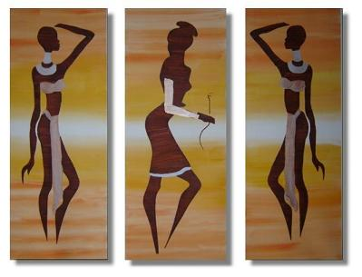 Dafen Oil Painting on canvas Africa girl -set217