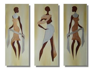 Dafen Oil Painting on canvas Africa girl -set219