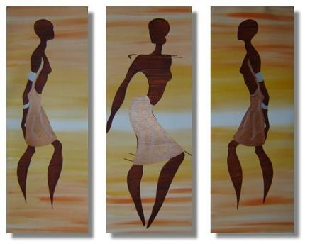 Dafen Oil Painting on canvas Africa girl -set221