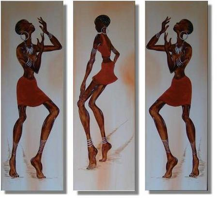 Dafen Oil Painting on canvas Africa girl -set223