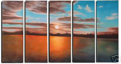Dafen Oil Painting on canvas seascape painting -set242