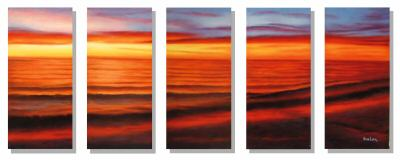 Dafen Oil Painting on canvas sunglow painitng -set248