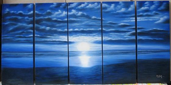 Dafen Oil Painting on canvas seascape painting -sea250