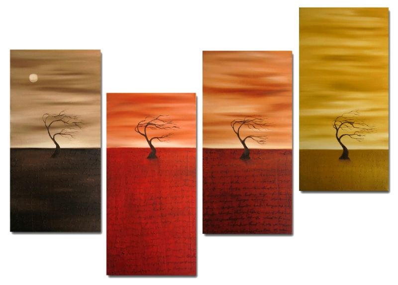 Dafen Oil Painting on canvas tree -set254