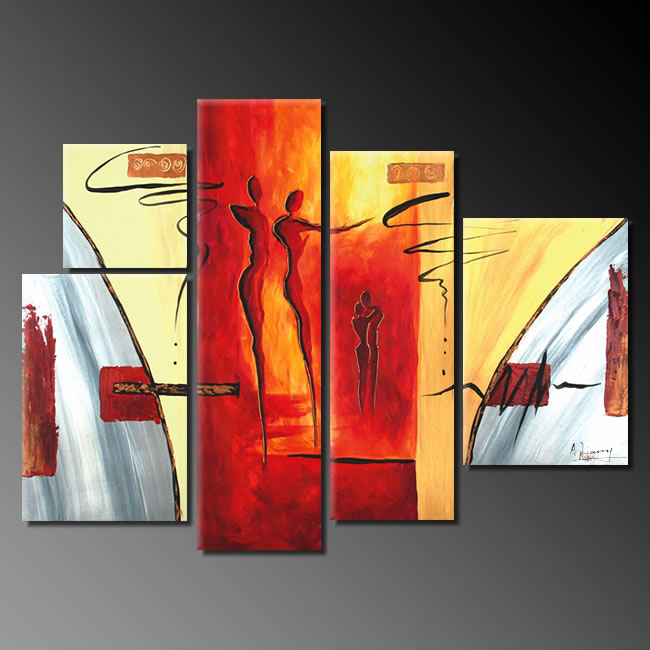 Dafen Oil Painting on canvas abstract painting -set255 - Click Image to Close