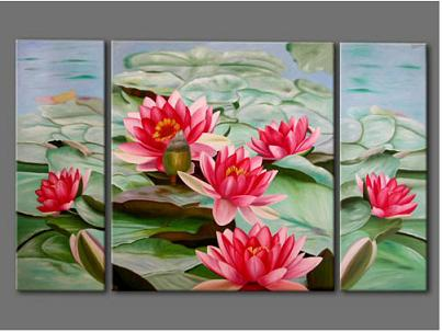 Dafen Oil Painting on canvas Water lily -set259