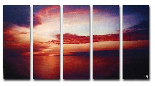 Dafen Oil Painting on canvas sunglow painting -set261