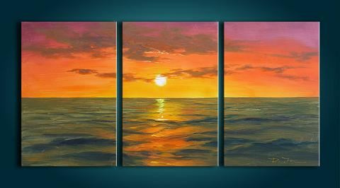 Dafen Oil Painting on canvas sunglow -set274