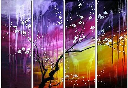 Dafen Oil Painting on canvas tree -set284