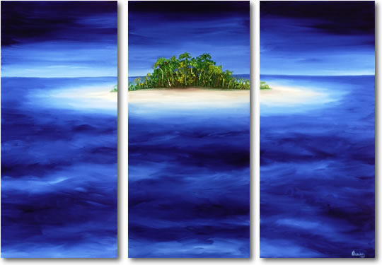 Dafen Oil Painting on canvas green island -set286