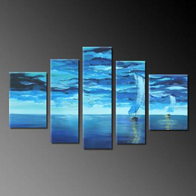 Dafen Oil Painting on canvas seascape painting -set290