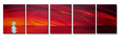 Dafen Oil Painting on canvas sunglow painting -set296