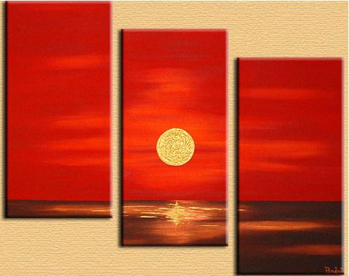 Dafen Oil Painting on canvas sunglow -set300