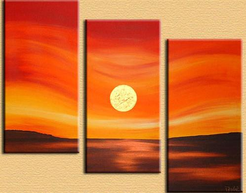 Dafen Oil Painting on canvas sunglow -set301