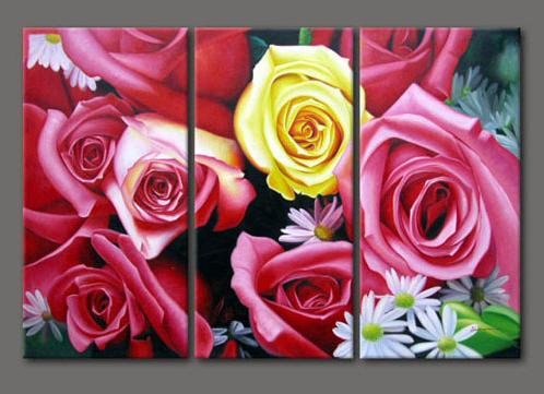 Dafen Oil Painting on canvas red roses -set303