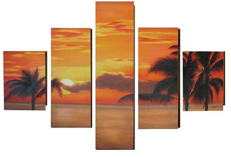 Dafen Oil Painting on canvas seascape painting -set316
