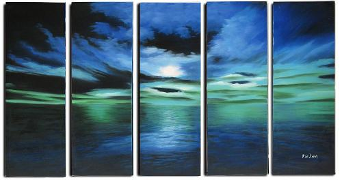 Dafen Oil Painting on canvas seascape painting -set317