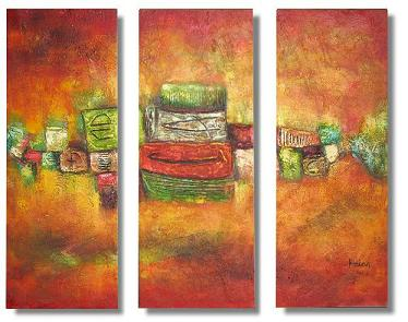 Dafen Oil Painting on canvas abstract -set320