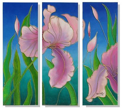 Dafen Oil Painting on canvas flower -set325