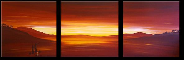Dafen Oil Painting on canvas sunglow -set328