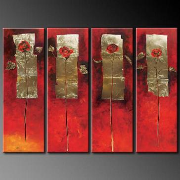 Dafen Oil Painting on canvas abstract -set331