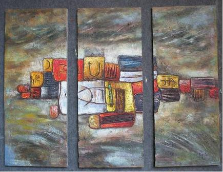 Dafen Oil Painting on canvas abstract -set333