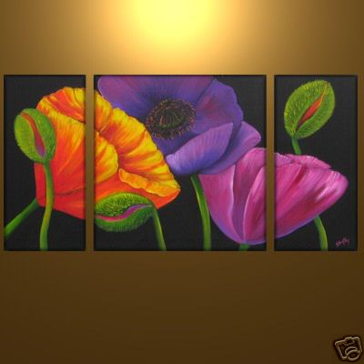Dafen Oil Painting on canvas flower -set334