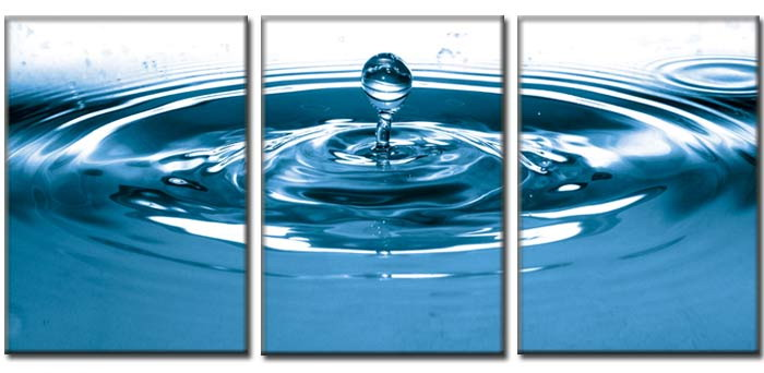 Dafen Oil Painting on canvas bule water drop -set338
