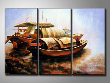 Dafen Oil Painting on canvas ships -set347
