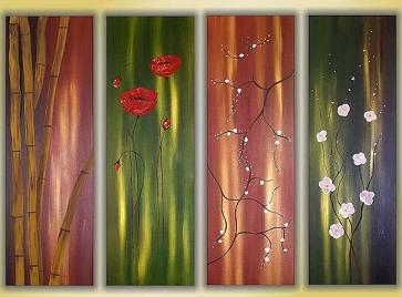 Dafen Oil Painting on canvas flower -set352