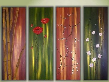 Dafen Oil Painting on canvas flower -set353