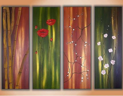Dafen Oil Painting on canvas flower -set354