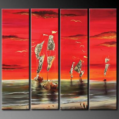 Dafen Oil Painting on canvas abstract -set363