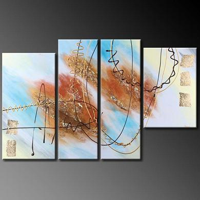 Dafen Oil Painting on canvas abstract -set387