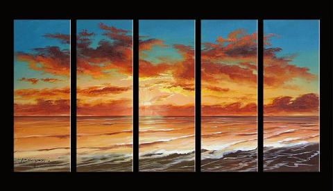 Dafen Oil Painting on canvas seascape painting -set395