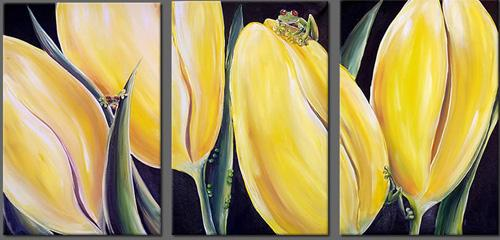 Dafen Oil Painting on canvas flower -set402