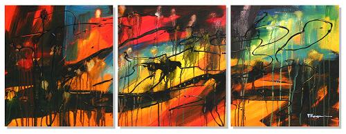Dafen Oil Painting on canvas abstract -set408