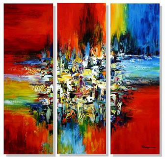 Dafen Oil Painting on canvas abstract -set410