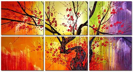 Dafen Oil Painting on canvas flowers -set415