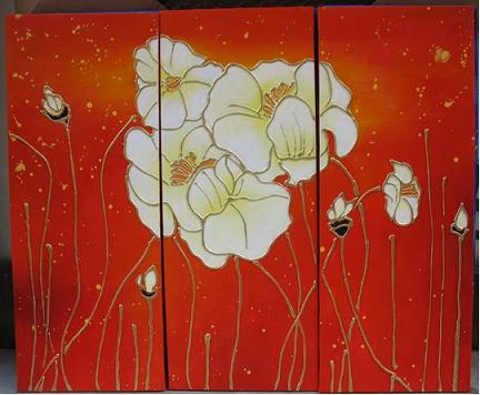 Dafen Oil Painting on canvas water lily -set435