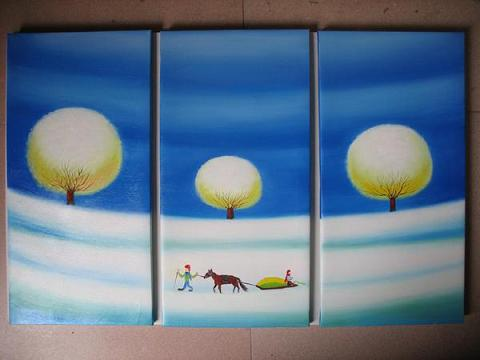 Dafen Oil Painting on canvas absrtact -set436