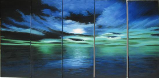 Dafen Oil Painting on canvas seascape painting -set438