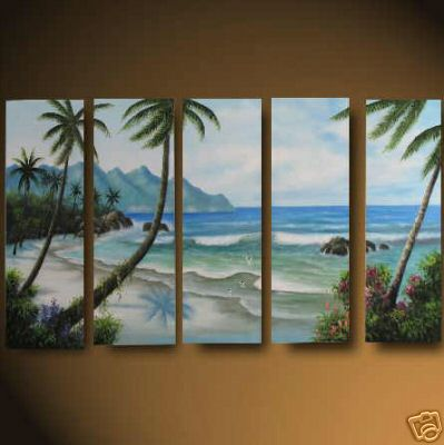 Dafen Oil Painting on canvas seascape painting -set475