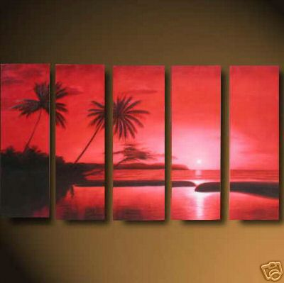 Dafen Oil Painting on canvas seascape painting -set481