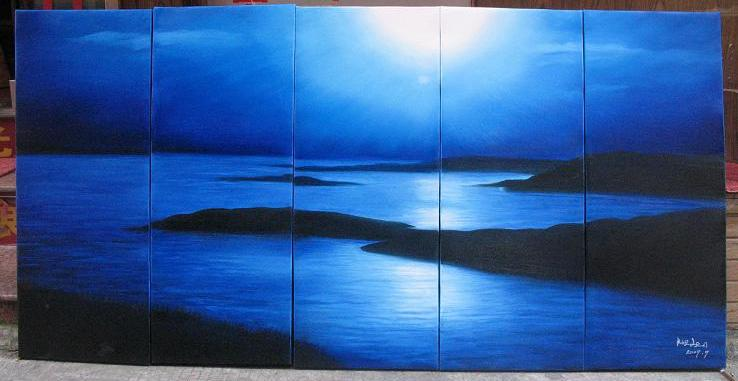 Dafen Oil Painting on canvas seascape painting -set487