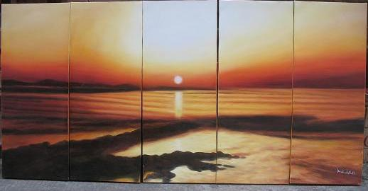 Dafen Oil Painting on canvas seascape painting -set491
